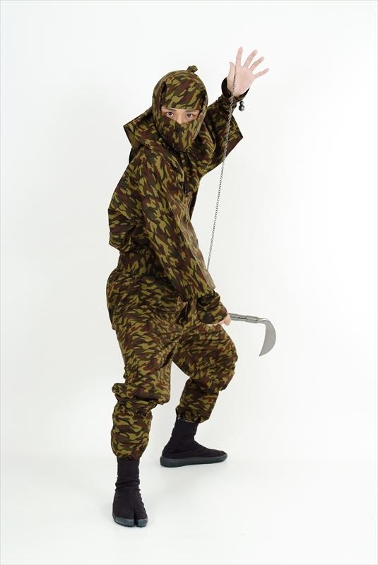 成人忍者服裝 IGA 版本齊全的偽裝設計忍者磨損 fs3gm