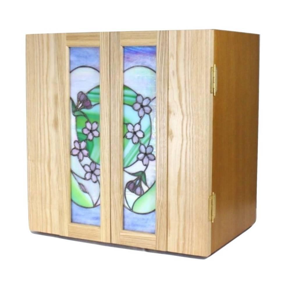 キューブ 桜ふぶき 15号 ステンドグラス仏壇