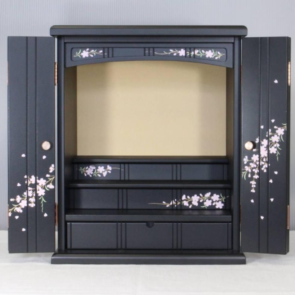「かわいい桜 16号」薄型コンパクト仏壇 上置き