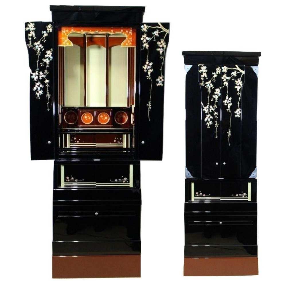 しだれ桜 46号 桜蒔絵塗り仏壇 重ね型仏壇