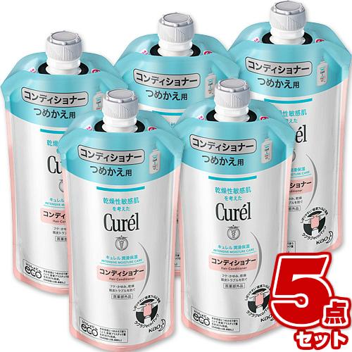 花王 内祝い Curel リンス キュレル コンディショナー 海外並行輸入正規品 まとめ買い ×5個セット 詰め替え 340ml