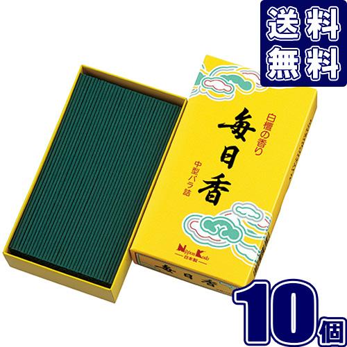 毎日香 中型バラ詰 150g ×10 日本香堂 10802 線香【10個セット】線香 まとめ買い