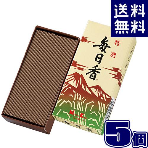 特選毎日香 バラ ×5 日本香堂 123 【5個セット】線香 まとめ買い