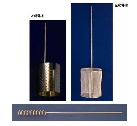 プラチナ電極 線径(φ):1.6|長さ:筒経(mm):150:35|筒高(mm):45|大きさ:1.6mm×150:35m