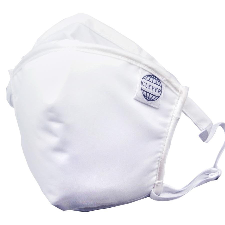 【再販商品】ピッタリッチ マスク (PM2.5+防菌・防ウィルス対策用) 再利用可能タイプ ホワイト 1個 交換用フィルター10枚入り 100回洗って使えるマスク