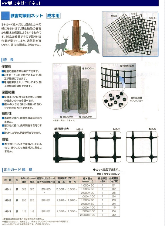 PP製ミキガード MS-2 100cm幅×79m fs04gm PP製