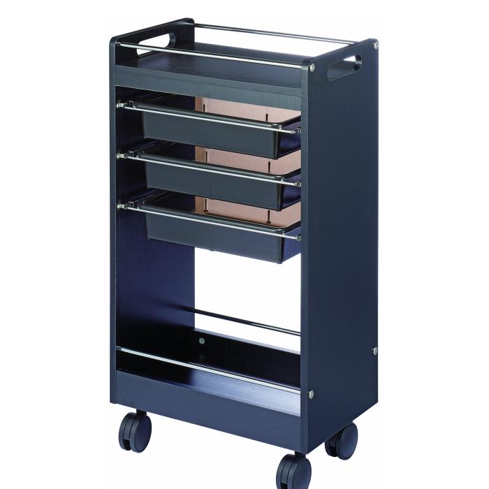 ワームスY-341 セットワゴン 収納性抜群 作業性重視 美容室 ワゴン 器具