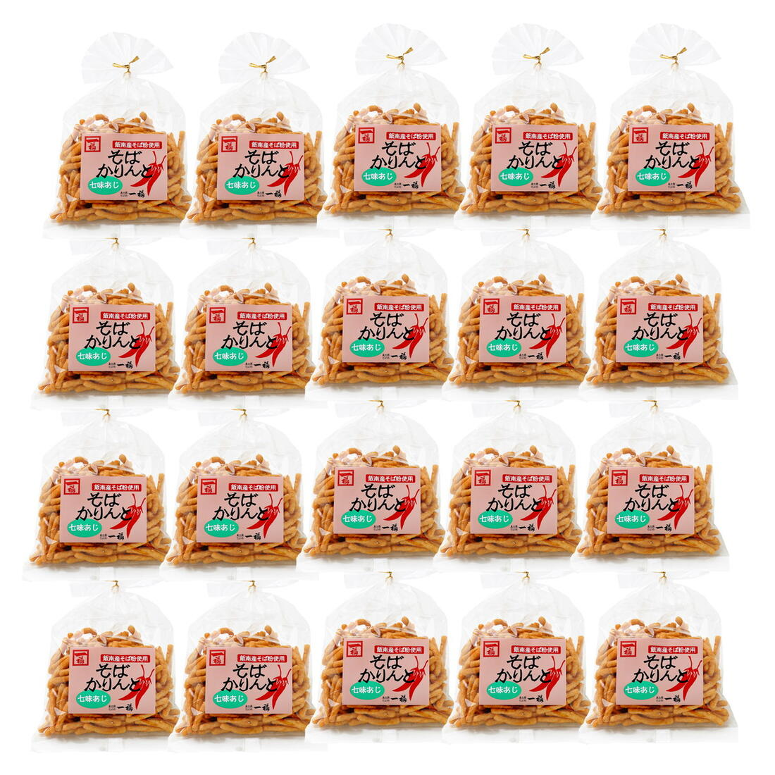 島根 そばかりんとう お菓子 ピリ辛 [奥出雲そば処一福] そばかりんと七味あじセット 130g×20