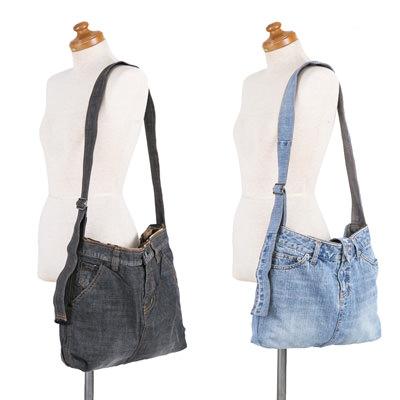 送料無料 1点もの!人気のブランドジーンズ(新品未使用)をバッグにリメイクした「ショルダーバッグとポーチ」セット 赤ちゃんの店・ジーンズショップシェーン・高知県