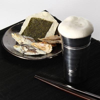 送料無料 日本酒器 口当たりの良さは抜群!錫の一口ビールsazanami(大) 錫光