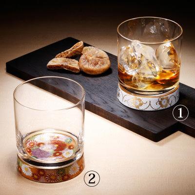 送料無料 ロックグラス 美しい九谷の伝統柄が底でゆらめく 〈 九谷和グラス 〉ロックグラス 清峰堂株式会社
