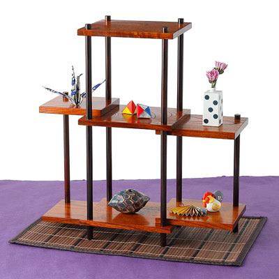 送料無料 日本人の心をはぐくみ伝えつづけた繊細で上品な 3段飾り棚