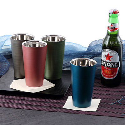 送料無料 「匠の技術」の融合 漆磨カップ 二重ストレートカップ