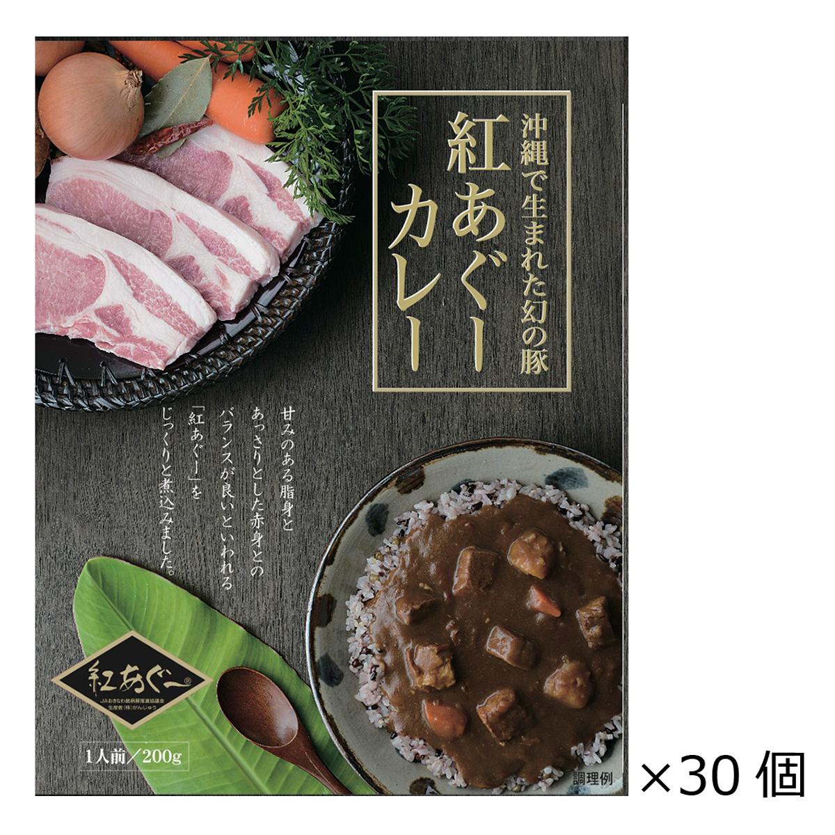 紅あぐーカレー 30個 200g ポークカレー 沖縄名物 ご当地カレー レトルトカレー あぐー豚カレー まとめ買い