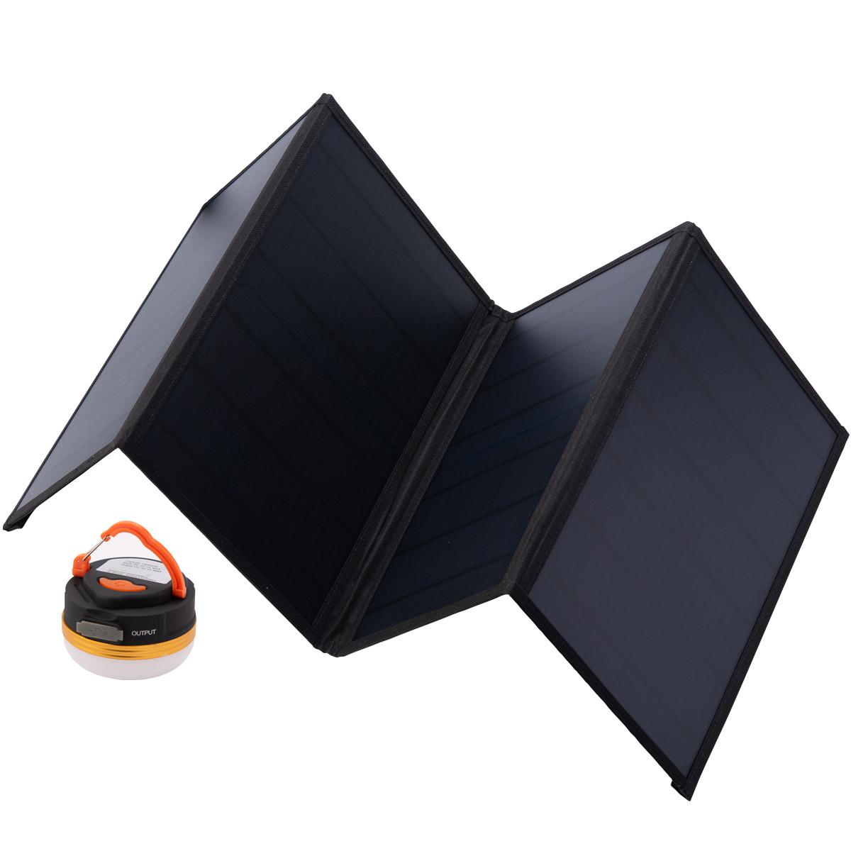 折りたたみ式太陽光パネル ランタン付き 特別セット ソーラーパネル 軽量 コンパクト ミニランタン 防災 太陽電池 E-SAFE SORA