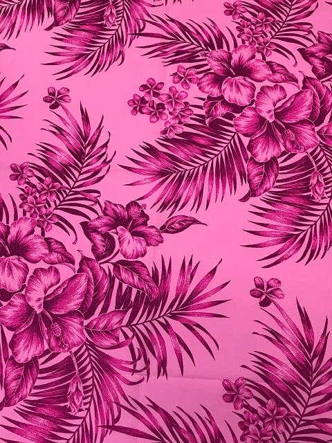 フラドレス パウスカート 雑貨におすすめ ハワイ産プリント生地 ハワイアンプリント ストア ポリエステル 商い 65% 110cm巾生地 布 35% 綿