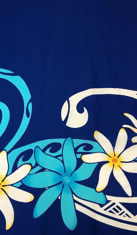 フラドレス パウスカート 雑貨におすすめ ハワイ産プリント生地 ハワイアンプリント 『4年保証』 ポリエステル 35% 綿 110cm巾生地 65% 布 中古