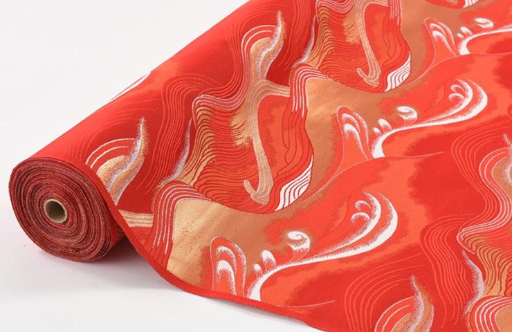 和雑貨 コスプレ 和装 よさこい衣裳に 日本製帯地 新作製品 世界最高品質人気 新作多数 金らん 帯地 赤色 で華やかに 72cm巾 あすか四丁 生地 布