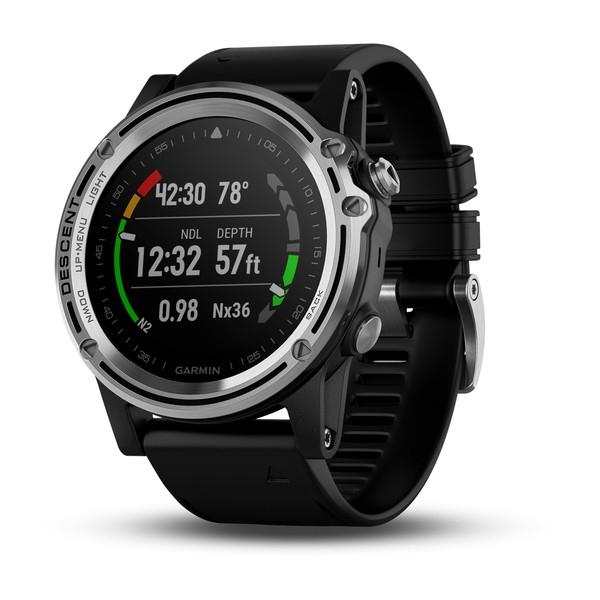 【エントリーで全品ポイント10倍!】【納期注意!】Garmin ガーミン Descent Mk1 Silver Sapphire with Black Band GPS Smartwatch 日本未発売品  送料無料メーカー取寄せ。納期約1か月程度