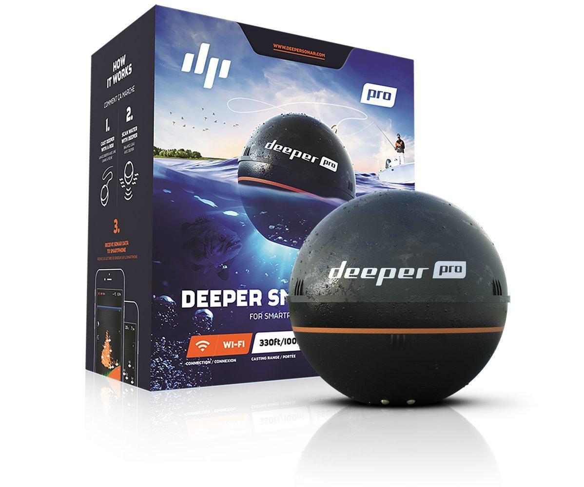 【エントリーで全品ポイント10倍!】【納期注意!】Deeper Pro(ディーパープロ) ワイヤレススマート魚群探知機 送料無料メーカー取寄せ。納期約1か月程度