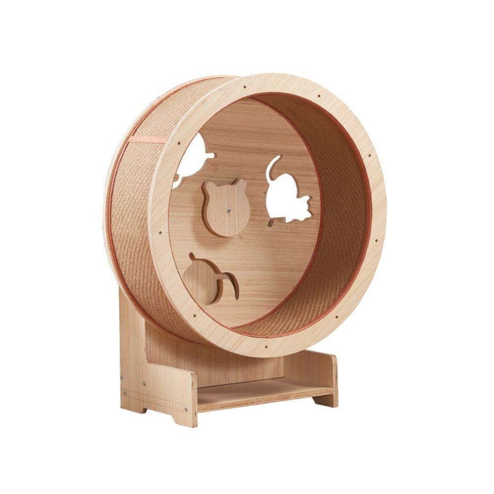 【納期注意!】 キャッツ エクササイズホイール 木製 片側 ダイエット キャットウィール ランニングマシン 送料無料 メーカー発送。納期1か月前後