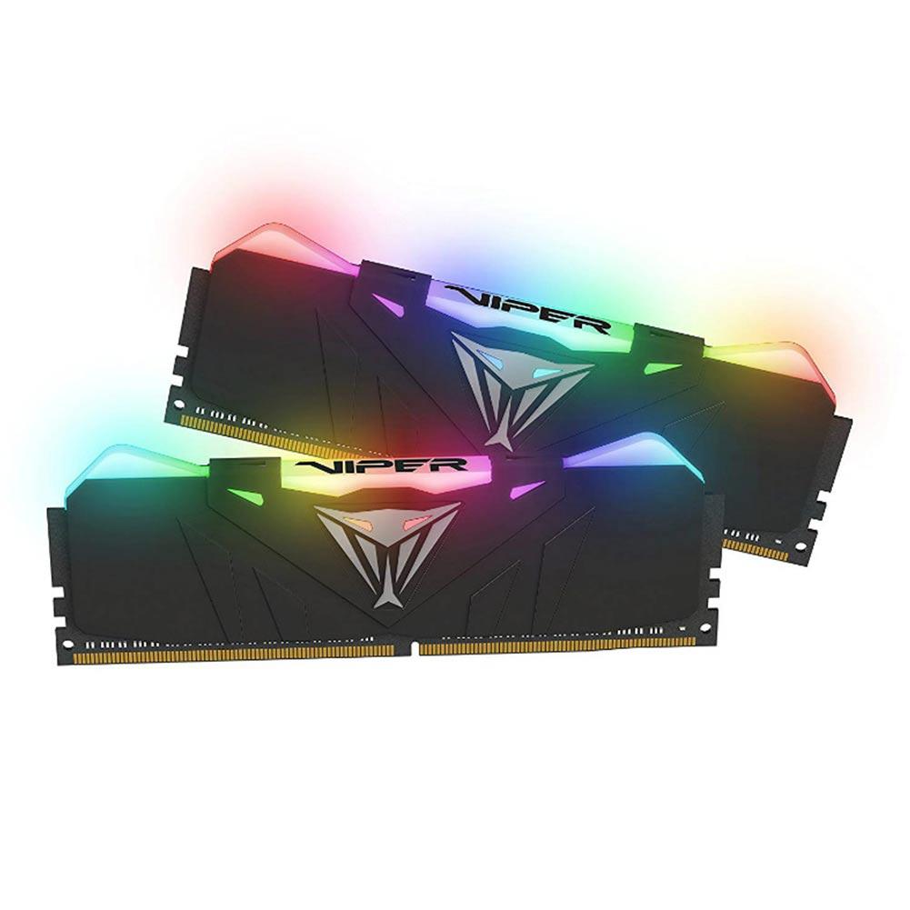 【納期注意!】ゲーミング 光る Patriot Viper Gaming RGB Series DDR4 DRAM 3600MHz 16GB(2x8GB) BLACK ハイスペックメモリ 送料無料メーカー取寄せ。納期約1か月程度