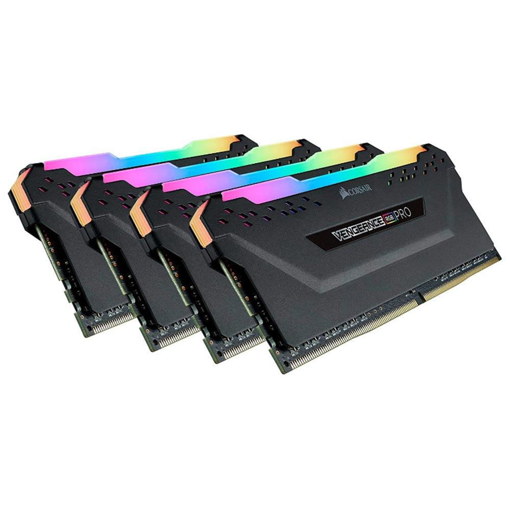 【納期注意!】ゲーミング 光る Corsair CMW64GX4M4C3200C16 Vengeance RGB PRO 64GB (4x16GB) DDR4 3200 ハイスペックメモリ 送料無料メーカー取寄せ。納期約1か月程度