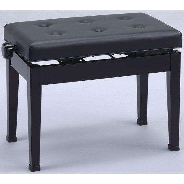 【送料無料】日本製 高低自在 ピアノ椅子 木製両ハンドル 横幅60cm 甲南 V60-S 黒塗り