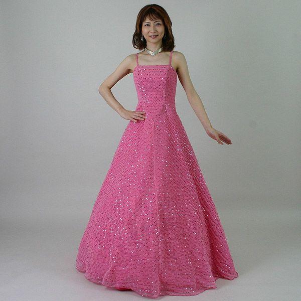 カラードレス/11号/演奏会や発表会のステージ衣装からウエディングに![声楽・ピアノ演奏] カラー:ピンク/演奏会用ドレス/ステージドレス