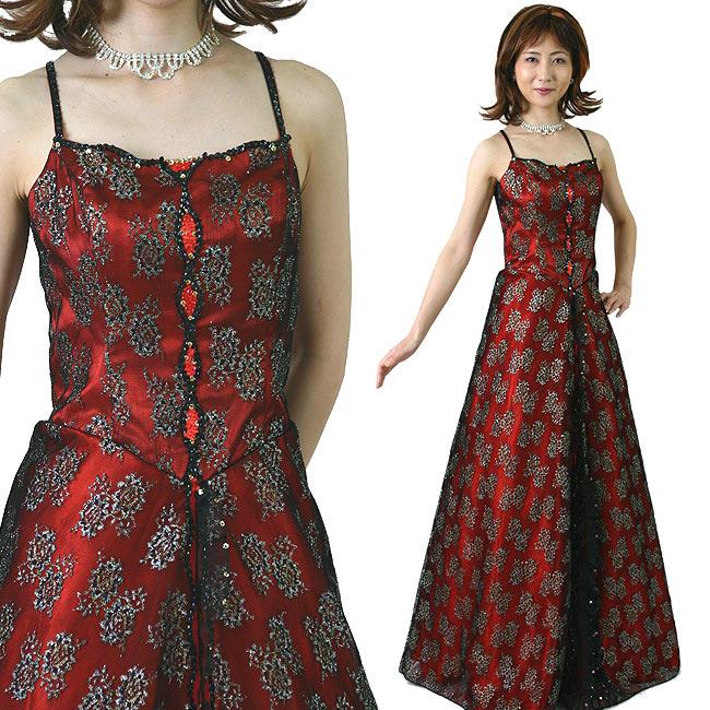 カラードレス/色:黒 赤 銀/13号/演奏会用ドレス/ステージドレス