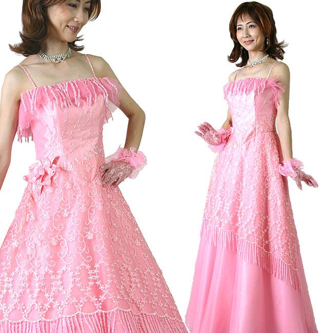 カラードレス 結婚式 演奏会用 舞台 ステージ衣装 ピンク