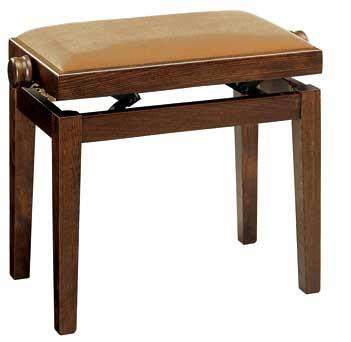 【送料無料】イタリア・ディスカチャー社製 ピアノ椅子 艶消しウォルナット塗 No.105(納期ご案内致します)