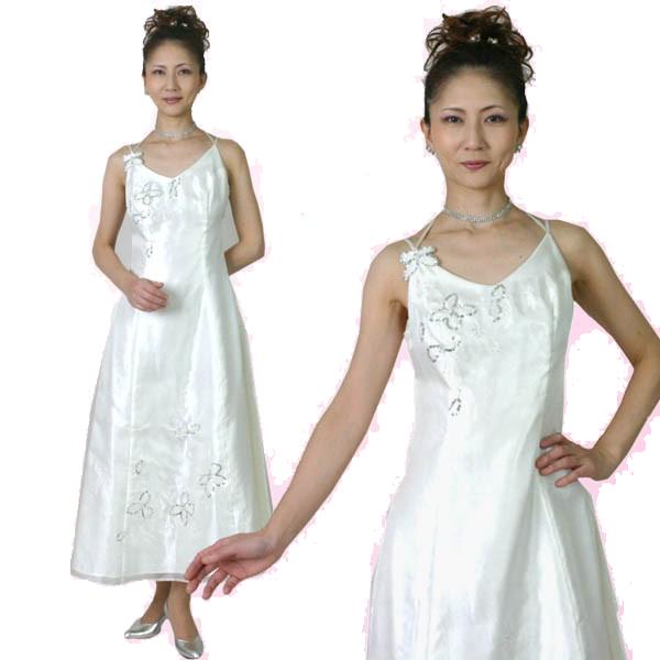 ロングドレス パーティードレス 舞台 ステージ 衣装 お呼ばれ 発表会 2次会 オフホワイト