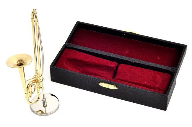 リアルな楽器フィギュア 管楽器シリーズ いつでも送料無料 ミニチュア楽器 35%OFF フィギュア トロンボーン カラーゴールド 14cm 1 飾り物で音は出ません サンライズサウンドハウス 金属製 6