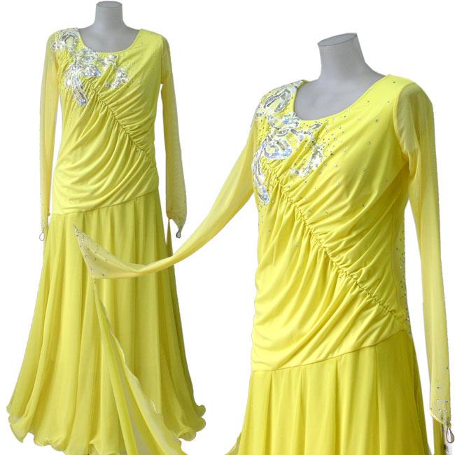 ダンス衣装 カラオケ衣装 スパンコールドレス 舞台衣装 ステージ衣装 シフォンロングドレス