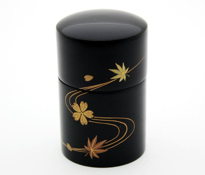 【ミニ骨壺】 蒔絵 -まきえ- 『春秋流水』 手元供養