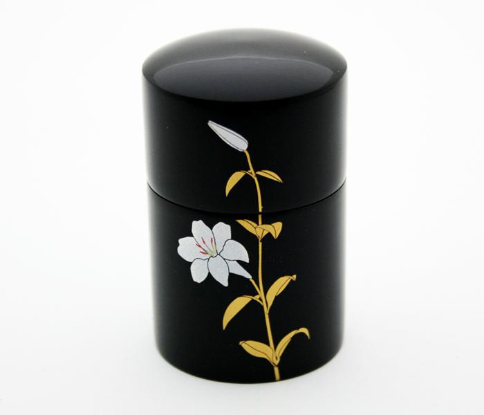 【ミニ骨壺】 蒔絵 -まきえ- 『ゆり』 手元供養