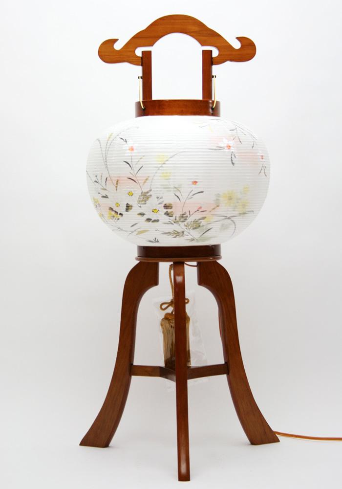 【盆提灯】行灯 萩の香10号 木製 絹二重絵