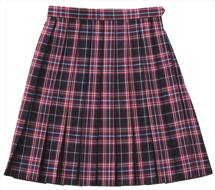 ベンクーガー スクールスカート (赤チェック・5333)