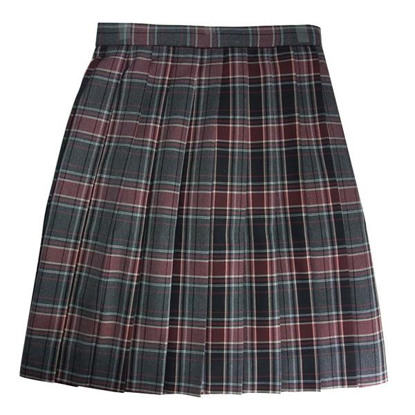 ビーステラ スクールスカート (チャコール×ワイン)