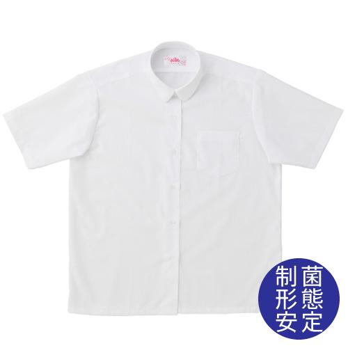 ビーステラ 半袖丸衿スクールシャツ (制菌加工) ワイシャツ Yシャツ【返品・交換不可商品】