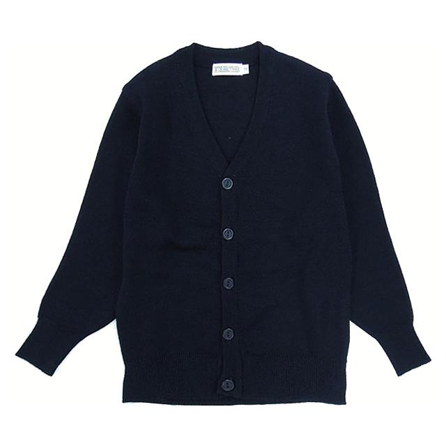 寒い時期の通学に最適なニットです。一枚あると便利! 学生服 カーディガン 小学生制服 (紺)