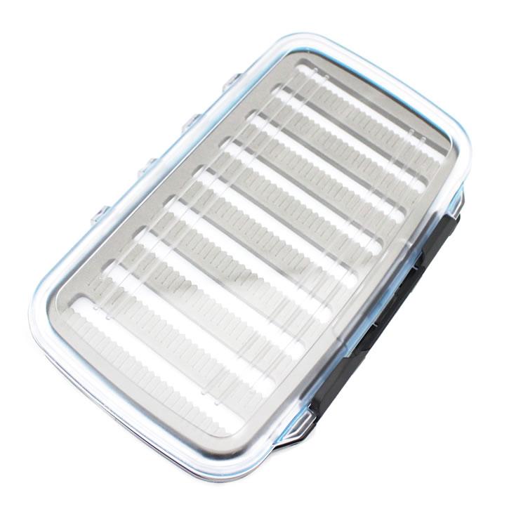 透明ケースで中身がよく見える 使い勝手のよいフライBOX フライボックス 防水 透明 18cm×12cm 裏表両面 国内正規品 ラージ 約90本収用可能 スーパーセール期間限定