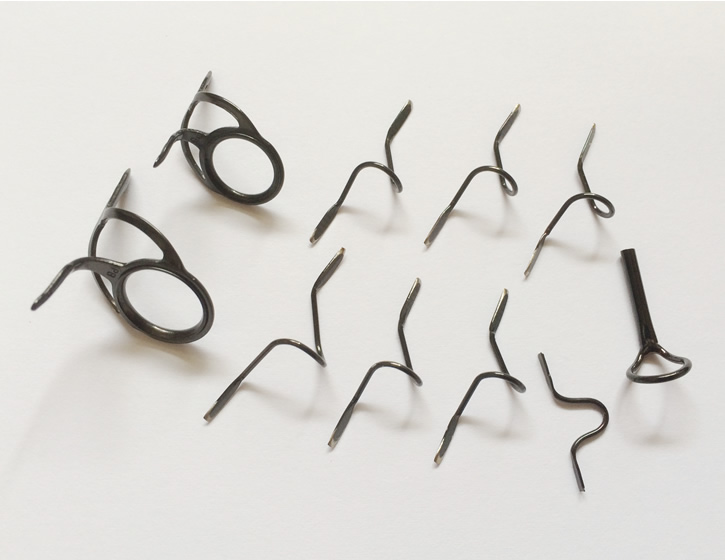 Carp guide set kw with kl guide set silver color frame with.