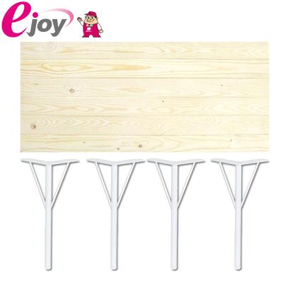 DIYテーブルセット 天板120cm 丸脚金具370mm×4本 ホワイト 送料無料