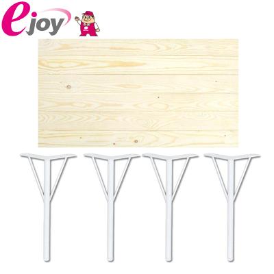 DIYテーブルセット 天板90cm 丸脚金具370mm×4本 ホワイト 送料無料