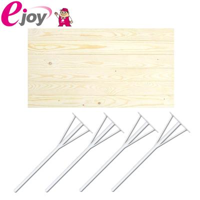 DIYテーブルセット 天板90cm 丸脚金具690mm×4本 ホワイト 送料無料