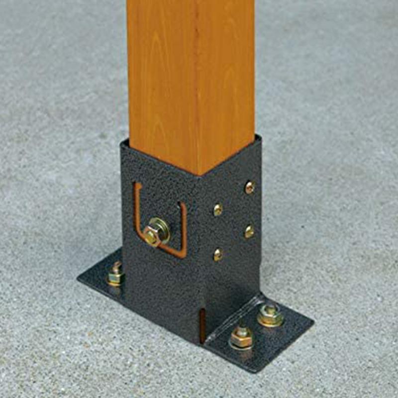 ラティス用パーツ ベランダやお庭の目隠しに ウォールガーデンにも タカショー ラティス用柱固定金具ベースプレート TKP-02 ラティス用柱60mm角対応 4975149322220
