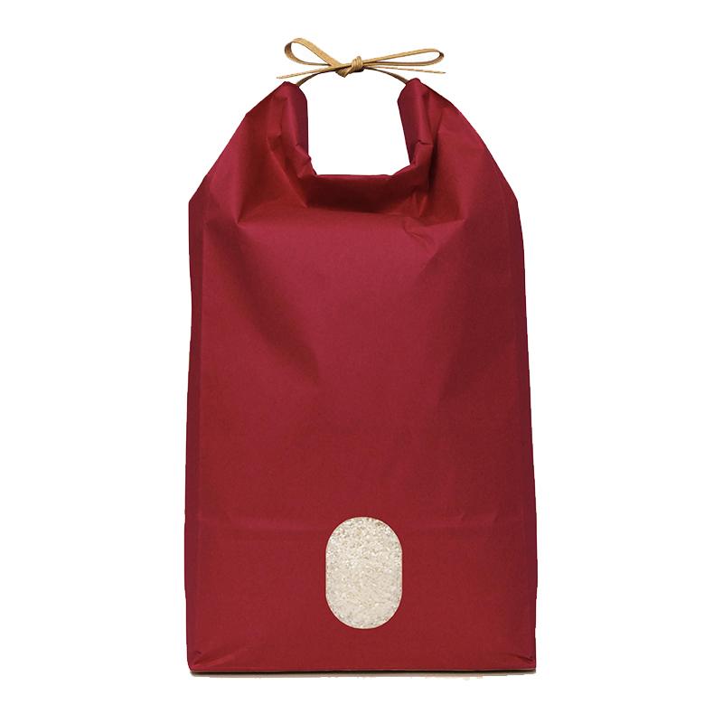 米袋 紙袋 まとめ買い 100枚入り アサヒパック 紐付きカラークラフト 与え 5kg用×100枚 お取り寄せ商品 4573270042088 窓あり 角底 激安通販ショッピング 牡丹