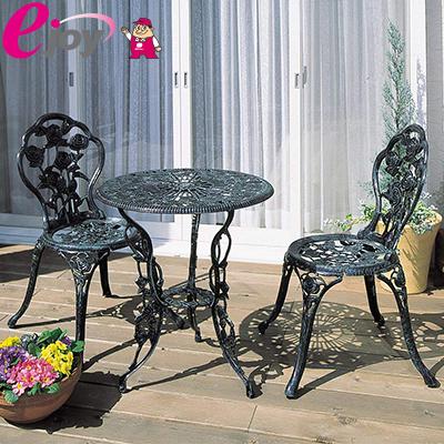 ガーデン テーブル 3点セット ローズ 青銅色 SGT-15VN 送料無料 【TAKASHO タカショー】(庭 屋外 椅子 イス テーブル 腰掛 アンティーク ガーデンチェア ガーデンチェアセット ガーデンテーブルセット ローズガーデン) DIY